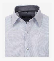 Freizeithemd Kurzarm in graues Mittelblau Casual Fit - CASAMODA