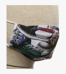 Mund-Nasen-Maske Doppelpack Kinder in Mittelrot - CASAMODA