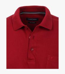 Polo-Shirt Langarm in Mittelrot - CASAMODA