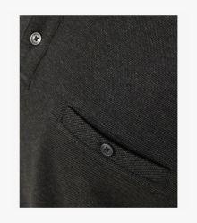 Polo-Shirt Langarm in Dunkelgrau - CASAMODA