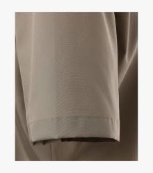 Businesshemd Kurzarm in Champagner Braun Comfort Fit - CASAMODA
