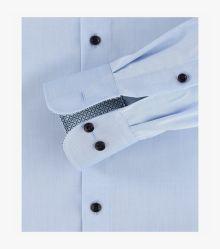 Businesshemd extra langer Arm 72cm in Hellblau Modern Fit - CASAMODA