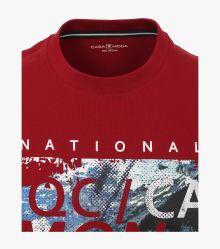 T-Shirt in Mittelrot - CASAMODA