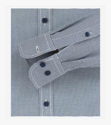 Freizeithemd extra langer Arm 72cm in Dunkelblau Casual Fit - CASAMODA