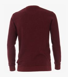 Pullover extra lang in Bordeauxrot - CASAMODA