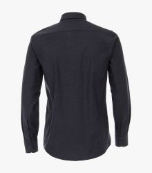 Flanellhemd in graues Dunkelblau Casual Fit - CASAMODA