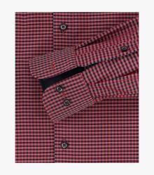 Businesshemd extra langer Arm 72cm in Mittelrot Comfort Fit - CASAMODA
