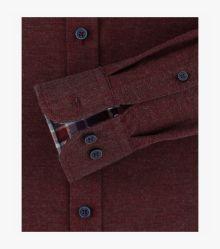 Flanellhemd in Dunkelrot Comfort Fit - CASAMODA