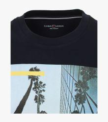 T-Shirt in sattes Dunkelblau - CASAMODA