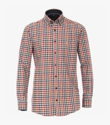 Flanellhemd in Orange Comfort Fit - CASAMODA