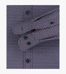 Freizeithemd extra langer Arm 72cm in Mittelblau Casual Fit - CASAMODA