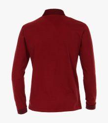 Polo-Shirt Langarm in sattes Rot - CASAMODA