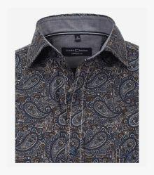 Freizeithemd in sattes Dunkelblau Comfort Fit - CASAMODA