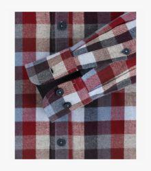 Flanellhemd in Mittelrot Comfort Fit - CASAMODA
