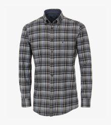Flanellhemd in Dunkelgrau Comfort Fit - CASAMODA