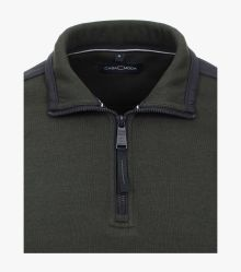 Sweatshirt in Olive - CASAMODA