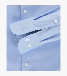 Businesshemd extra lang in Azurblau Modern Fit - CASAMODA