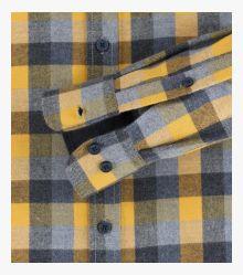 Flanellhemd in Gelb Casual Fit - CASAMODA
