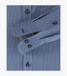 Freizeithemd extra langer Arm 72cm in graues Mittelblau Casual Fit - CASAMODA