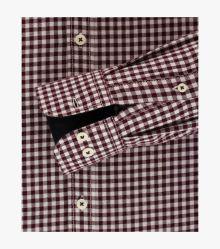 Freizeithemd in Bordeauxrot Comfort Fit - CASAMODA