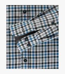 Freizeithemd in sattes Mittelblau Casual Fit - CASAMODA