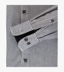 Freizeithemd in graues Dunkelblau Casual Fit - CASAMODA