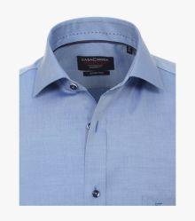 Businesshemd Kurzarm in graues Mittelblau Modern Fit - CASAMODA