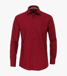 Businesshemd in Dunkelrot Slim Fit - VENTI
