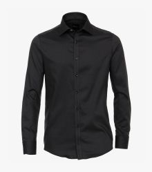 Businesshemd in Schwarz Slim Fit - VENTI