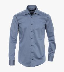 Businesshemd in graues Mittelblau Slim Fit - VENTI