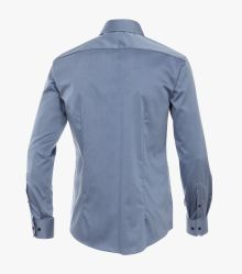 Businesshemd in graues Mittelblau Slim Fit - VENTI