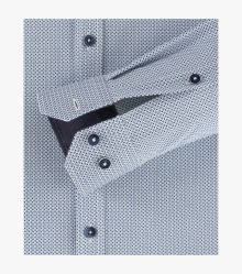 Businesshemd Hyperflex in mittleres Dunkelblau Body Fit - VENTI