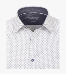 Businesshemd Hyperflex in graues Mittelblau Body Fit - VENTI