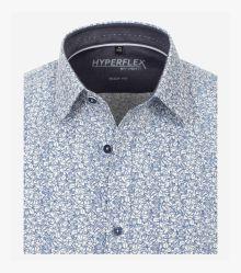 Businesshemd Hyperflex in sattes Mittelblau Body Fit - VENTI