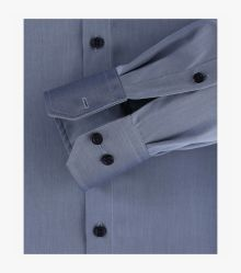 Businesshemd extra langer Arm 72cm in graues Dunkelblau Modern Fit - VENTI