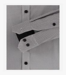 Businesshemd extra langer Arm 72cm in Schwarzgrau Body Fit - VENTI