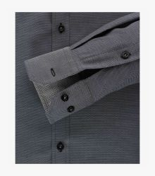 Businesshemd in Schwarzgrau Slim Fit - VENTI