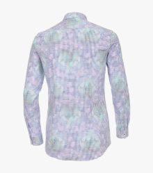 Businesshemd in Aquadunkelblau Body Fit - VENTI