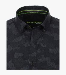 Freizeithemd in Schwarz Modern Fit - VENTI