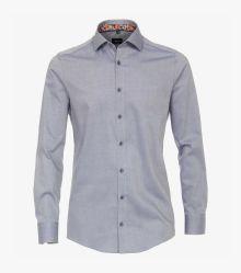 Businesshemd in 100 blau Modern Fit - VENTI