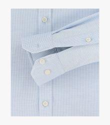 Businesshemd in Weißblau Body Fit - VENTI