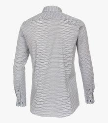 Businesshemd in graues Mittelblau Body Fit - VENTI