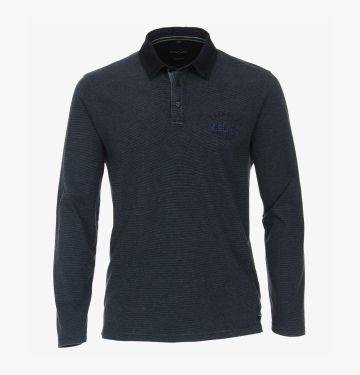 Polo-Shirt Langarm in Blau - CASAMODA