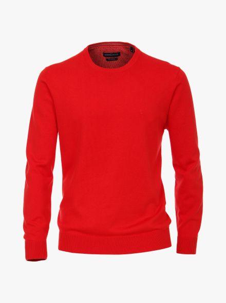 Pullover in sattes Rot - CASAMODA