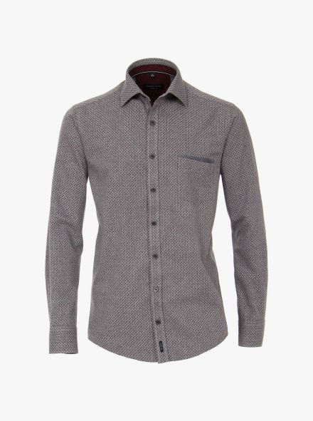 Freizeithemd in Grau Casual Fit - CASAMODA