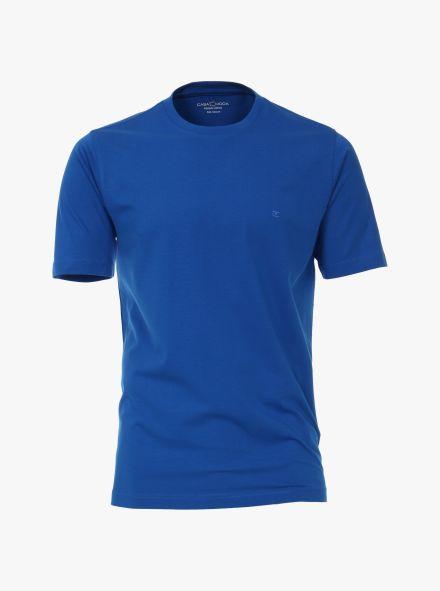 T-Shirt in sattes Mittelblau - CASAMODA