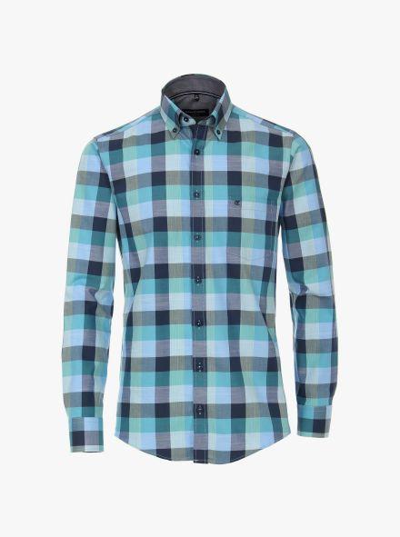 Freizeithemd in Mittelblau Comfort Fit - CASAMODA