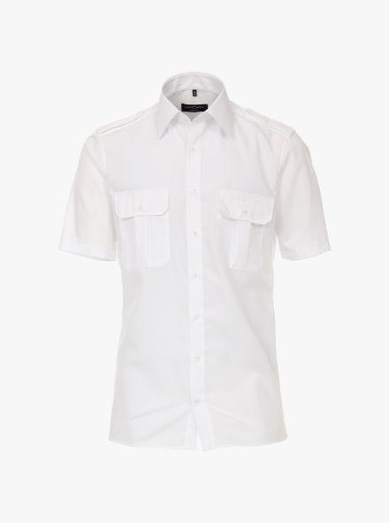 Businesshemd Kurzarm in Weiß Modern Fit - CASAMODA
