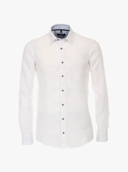 Leinenhemd in Weiß Casual Fit - CASAMODA