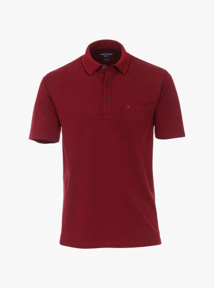 Polo-Shirt in Dunkelrot - CASAMODA